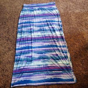 Ana blue&purple maxi skirt